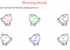 Rhyming words worksheet | Recurso educativo 76967