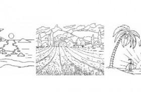 Dibujos para colorear paisajes  Recurso educativo 87454  Tiching