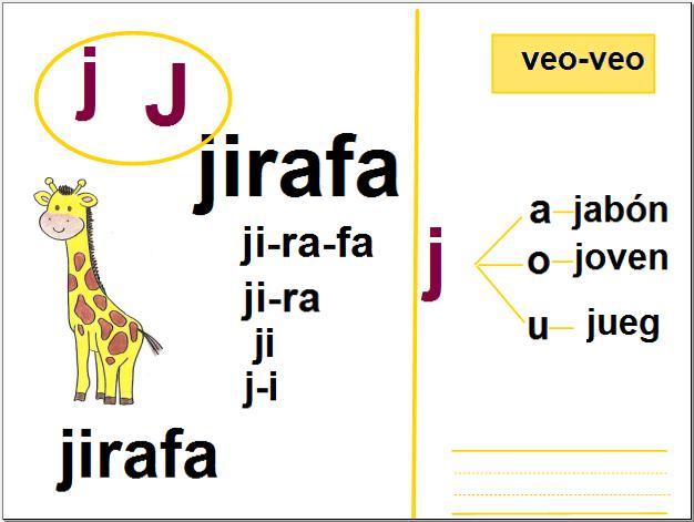 Fonema JA-GE   Recurso educativo 33510 - Tiching